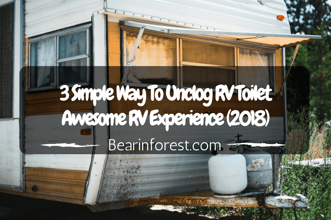 3 Simple Way To Unclog RV Toilet - Awesome RV Experience (2018)