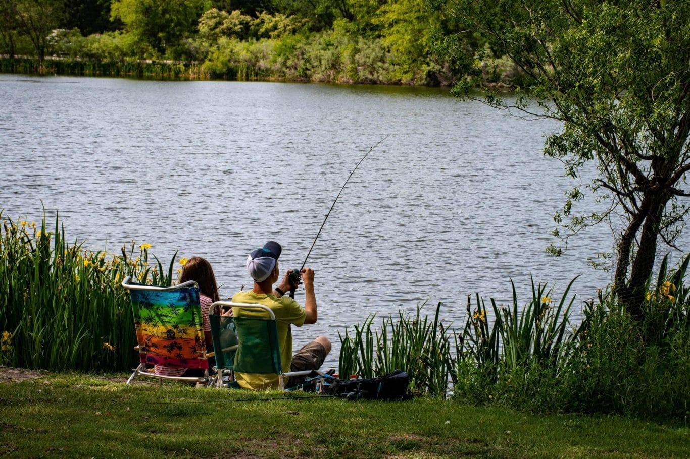 bass fishing a lake in pennsylvania