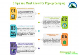 5 tips popup camping infographic