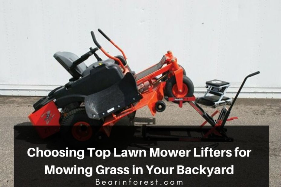 Choosing Top Lawn Mower Lifters for Mowing Grass in Your Backyard